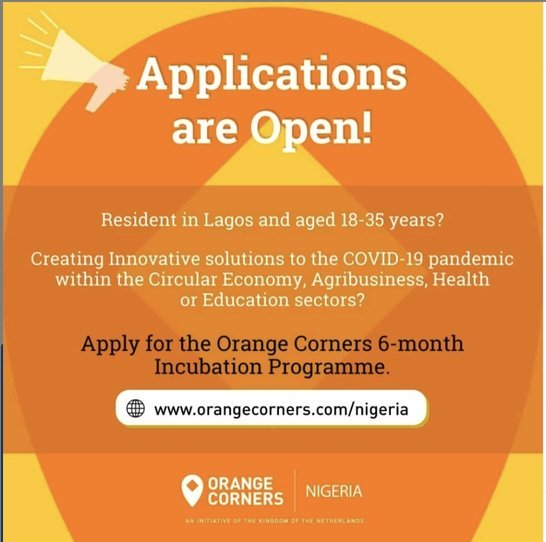Orange Corners Nigeria Business Incubation Programme 2020 for young Nigerians