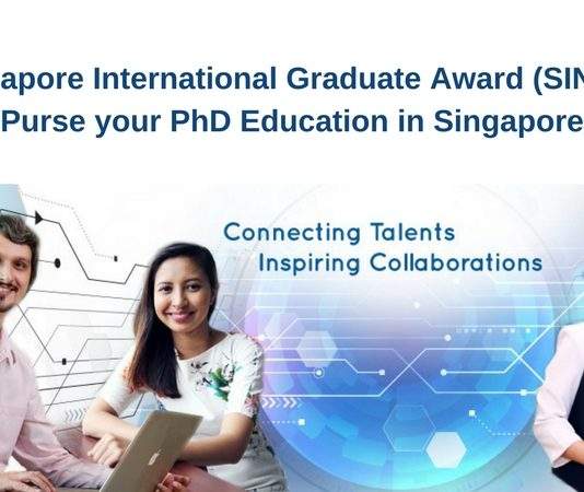 Singapore International Graduate Award (SINGA) for PhD Studies in Singapore – August 2021 intake