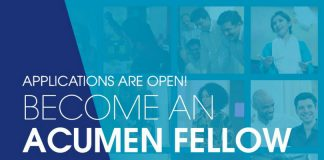 Acumen West Africa Fellowship 2020 for Entrepreneurs and Organization-builders