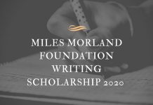 Miles Morland Foundation Writing Scholarship 2020 for Africans (grant of £18,000)
