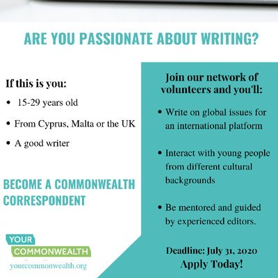 Commonwealth Youth Correspondent Program 2020 for  aspiring youth leaders & Writers