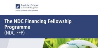 Nationally Determined Contributions (NDCs) Financing Fellowship Programme 2020 for young Africans