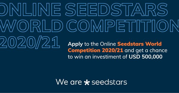 Online Seedstars World Competition 2020/21 for early-stage startups ($500,000 USD in equity investment)
