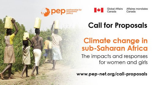 """Partnership for Economic Policy (PEP) call for project proposals on """"Climate change in Sub-Saharan Africa (US $58,000 in Funding)"""