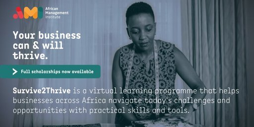 African Management Institute's Virtual Survive to Thrive programme 2020 for young African Entrepreneurs