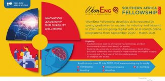 WomEng Southern Africa Fellowship 2020/2021 for Female Students