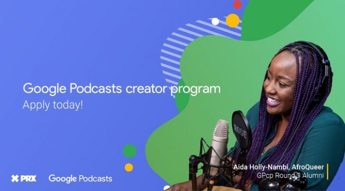 The Google Podcasts creator program 2020 for podcast creators (USD$ 12,000 in funding)