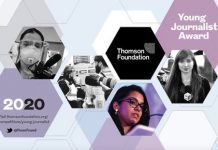 Thomson Foundation Young Journalist Award 2020 for Journalists worldwide
