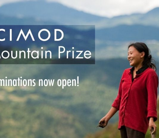 Call for Nominations: ICIMOD Mountain Prize 2020 (USD $2,500 prize)