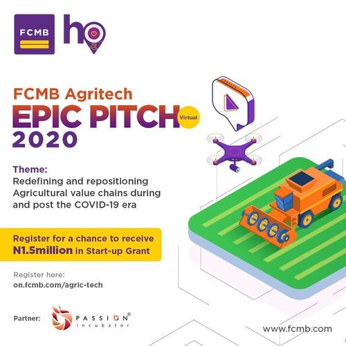 2020 First City Monument Bank (FCMB) Agritech EPIC Pitch for Startups in Nigeria (₦1.5M Grant)