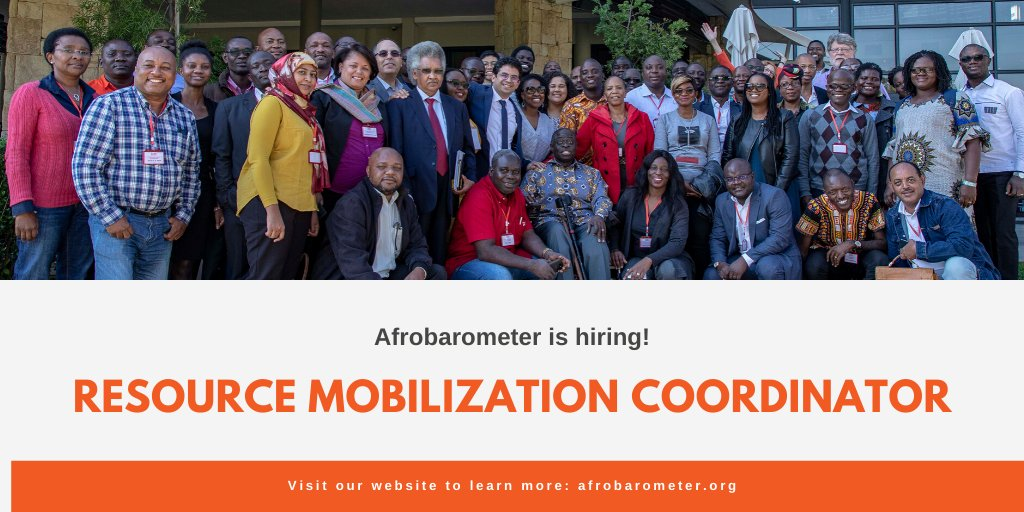 Afrobarometer is hiring a Resource Mobilization Coordinator