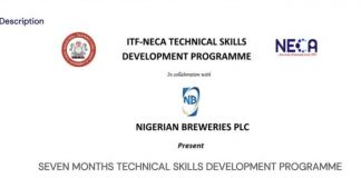 Nigerian Breweries Plc/Industrial Training Fund (ITF) & NECA – Technical Skills Development Programme 2020 for young Nigerians