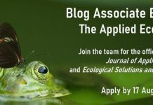 British Ecological Society is hiring a Blog Associate Editor for The Applied Ecologist