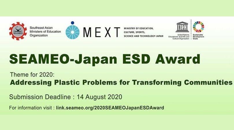 SEAMEO-Japan Education for Sustainable Development (ESD) Award 2020