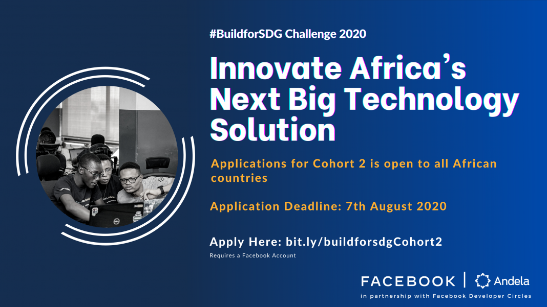 Facebook/Andela #BuildforSDG Challenge 2020 for Developers in Africa