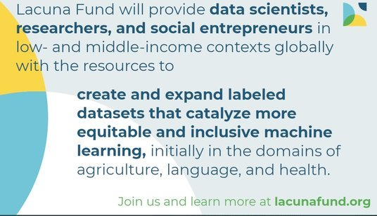 Lacuna Fund 2020 for Data Scientists, Researchers and Social Entrepreneurs
