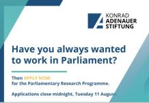 KAS Parliamentary Research Programme 2020 for young South Africans