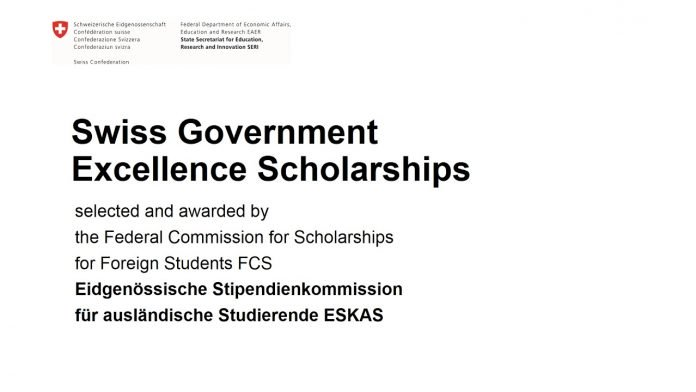 Swiss Government Excellence Scholarships 2021/2022- Foreign Students & Artists to study in Switzerland (Fully Funded)