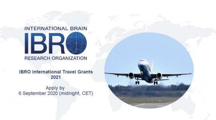 IBRO International Travel Grants 2021 for young Researchers
