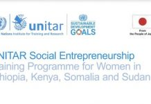 UNITAR Social Entrepreneurship Training Programme 2020 for Women from East Africa