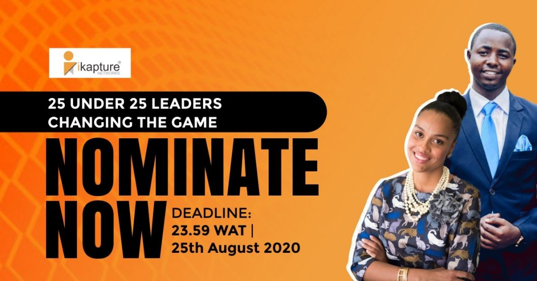 Call for Nominations: iKapture 25 Under 25 Leaders Changing the Game – 2020 Award!