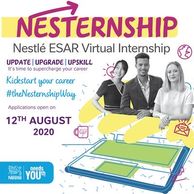 Nestlé ESAR Virtual Internship Program 2020 for young people across Africa.