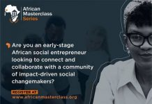 African MasterClass Series – Online Bootcamp for early-stage African Social Entrepreneurs.