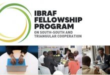 Brazil Africa Institute (IBRAF) Fellowship Program on South-South and Triangular Cooperation 2021 for young Scholars.