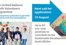 United Nations Youth Volunteers Programme 2020 for Young Swiss Graduates (fully-funded)