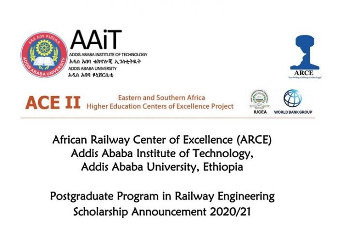 World Bank/ARCE MSc & PhD Scholarships in Railway Engineering 2020/2021 for young Africans