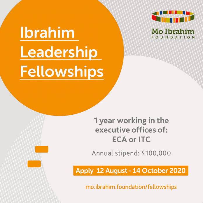 Mo Ibrahim Foundation Leadership Fellowship Programme 2021 at the United Nations Economic Commission for Africa (Fully Funded)