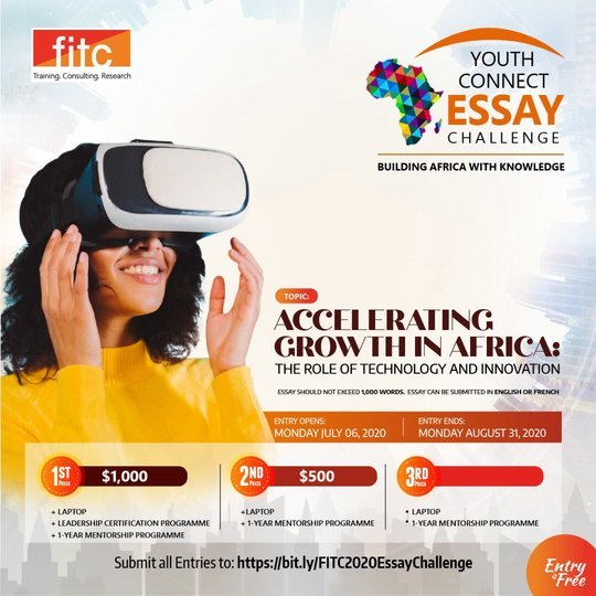 The FITC Youth Connect Essay Challenge 2020 for young African Undergraduates ($1,500 Prize)