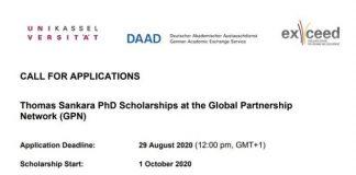 Thomas Sankara PhD Scholarships 2021 for developing countries Students