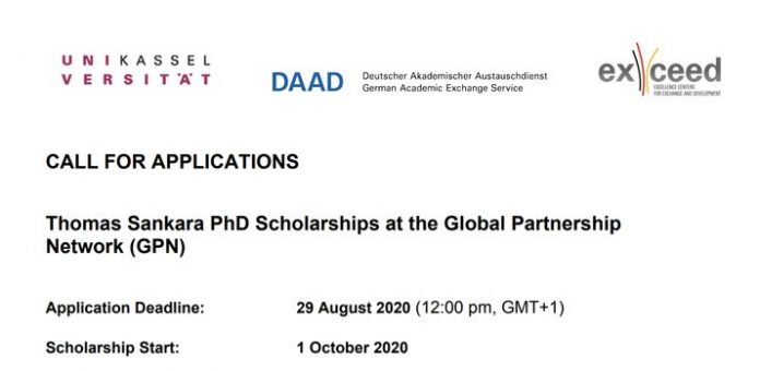 Tho­mas San­ka­ra PhD Scholarships 2021 for developing countries Students