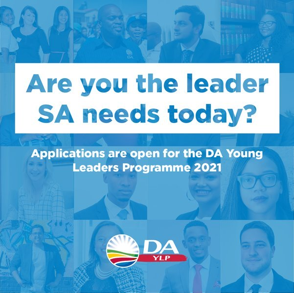 Democratic Alliance (DA) Young Leaders Programme 2021 for young South Africans
