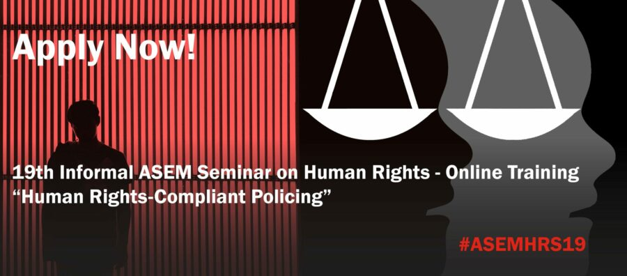 19th Informal ASEM Seminar on Human Rights Education – Online Training 2020