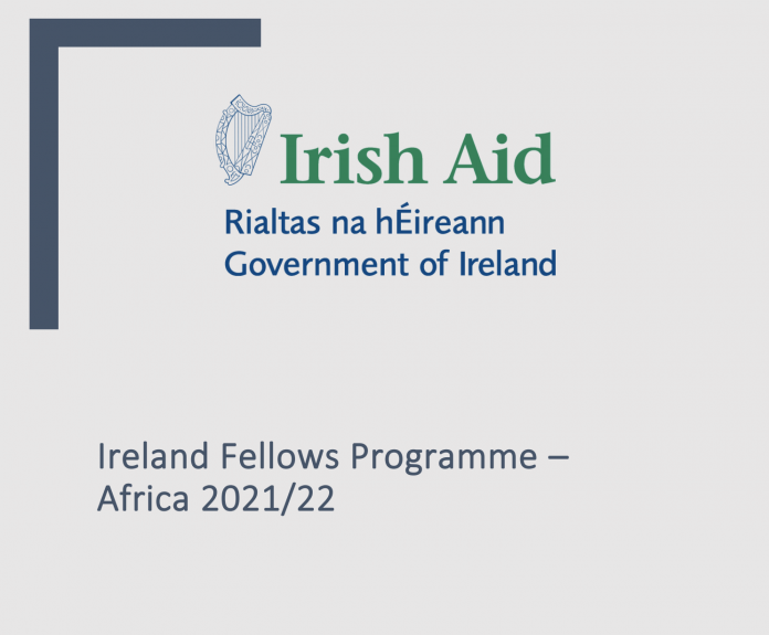 Ireland Fellows Programme-Africa Scholarship 2021/2022 for young Africans (Fully Funded study in Ireland)