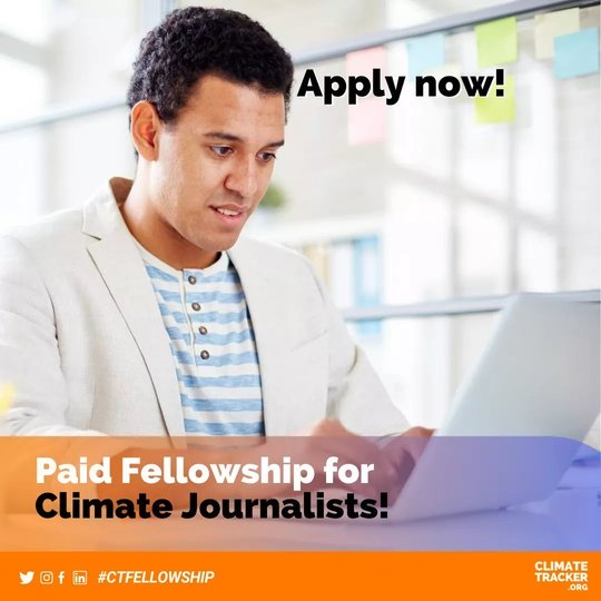 Climate Tracker Fellowship Program 2020 for young Journalists worldwide ($150USD per month Stipend)
