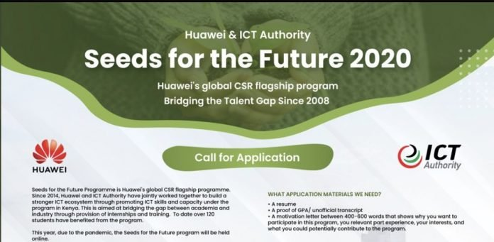 Huawei's Seeds for the Future Program 2020 for young Kenyan University Students