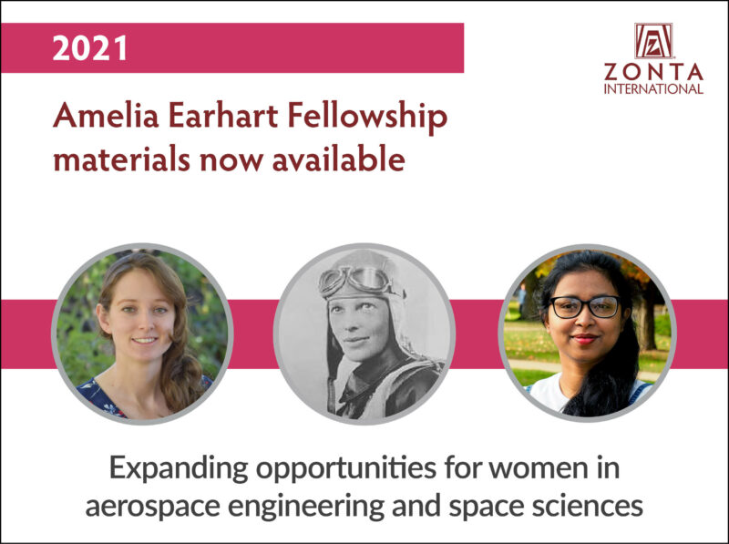Amelia Earhart Fellowship 2021 for Women in Aerospace-applied Sciences/Engineering (Up to US$10,000)