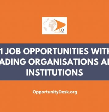 11 Job Opportunities with Leading Organisations and Institutions