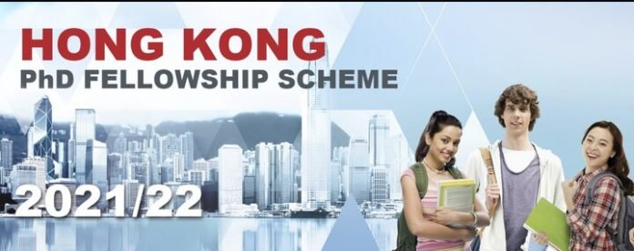 Hong Kong PhD Fellowship Scheme 2021/2022 for study in Hong Kong (Funded)