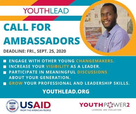 USAID YouthLead Ambassadors Program 2020/2021 for young changemakers.