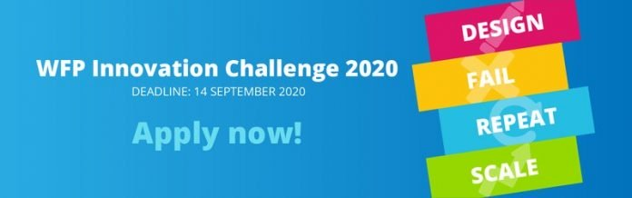 World Food Programme (WFP) Innovation Accelerator 2020 for Solutions to Hunger (US $100,000 in equity-free funding)