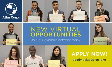 The Atlas Corps Virtual Leadership Institute 2020 for global social change leaders.