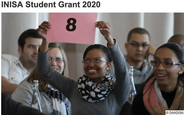 INISA Student Grant 2020 for Undergraduate students from SADC Region (Funded study in Germany)