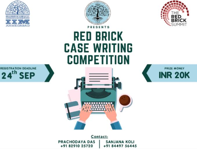 Red Brick Case Writing Competition 2020 for College Students (up to 20,000 INR in prizes)