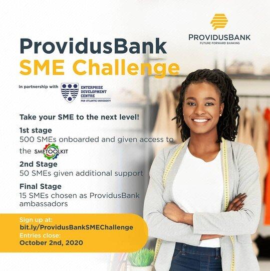 ProvidusBank SME Challenge 2020 for young Nigerian Entrepreneurs