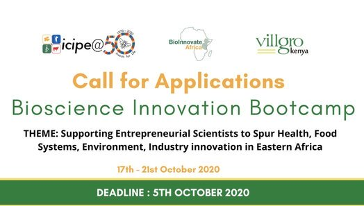 Call for Applications : Bioscience Innovation Bootcamp 2020 for Eastern Africa Scientists
