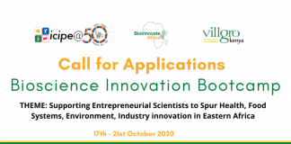 Call for Applications: Bioscience Innovation Bootcamp 2020 for Entrepreneurial Scientists in Eastern Africa